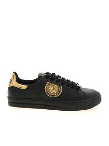 Versace Jeans Couture - V-Emblem logo sneakers in black