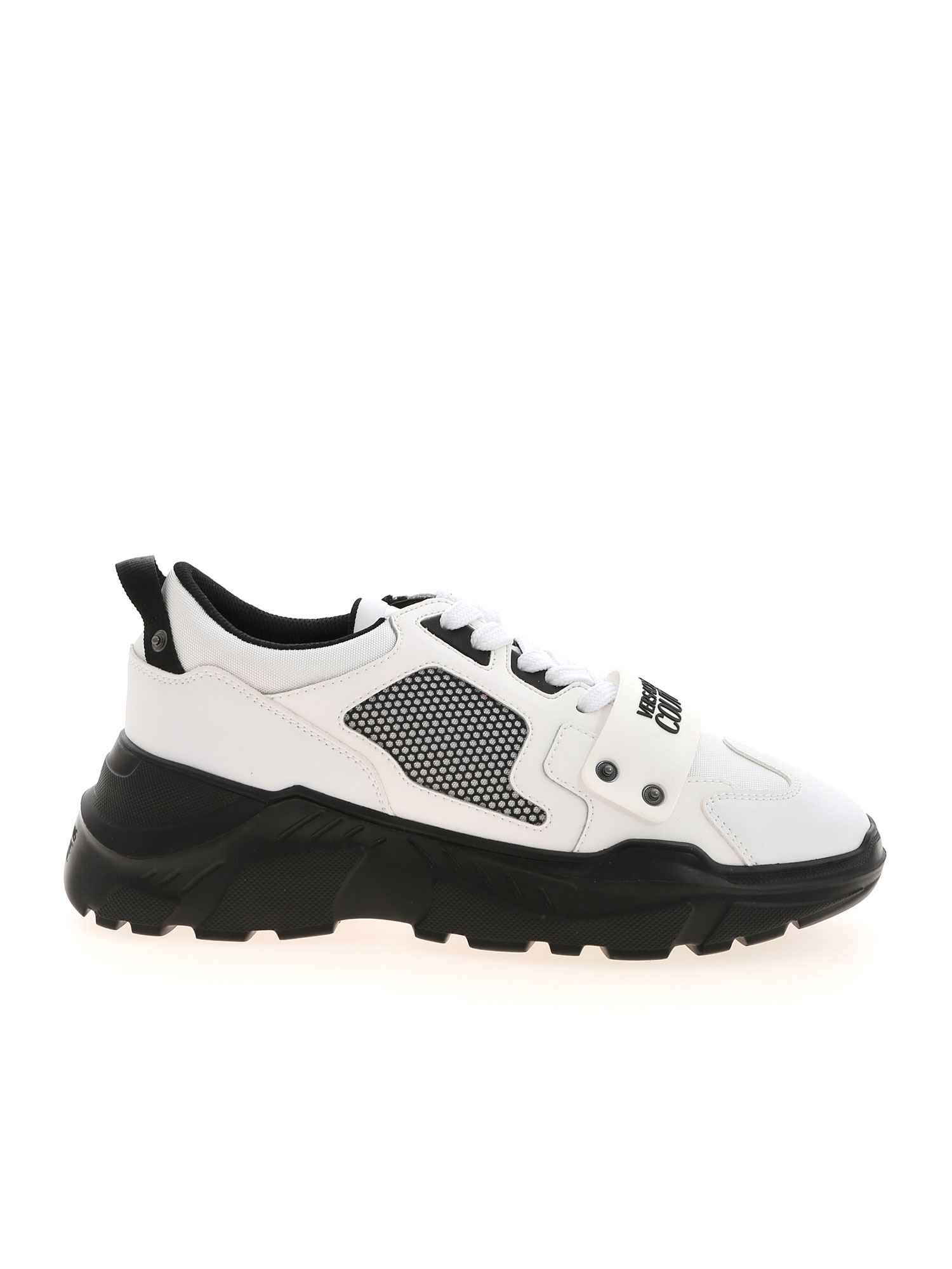 Versace Jeans Couture BRANDED SNEAKERS IN WHITE AND BLACK