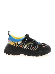 Versace Jeans Couture - Versailles logo sneakers in black