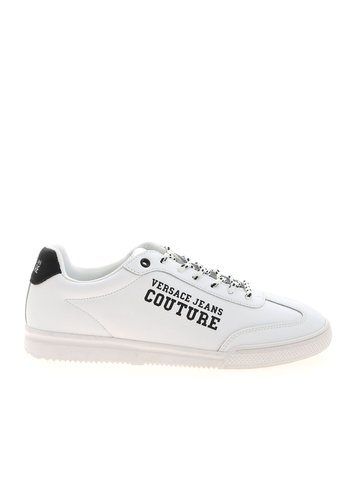 Versace Jeans Couture BLACK LOGO SNEAKERS IN WHITE