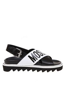 Moschino - Sling back sandals in black