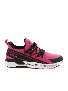 Versace Jeans Couture - Knit sneakers in pink and black