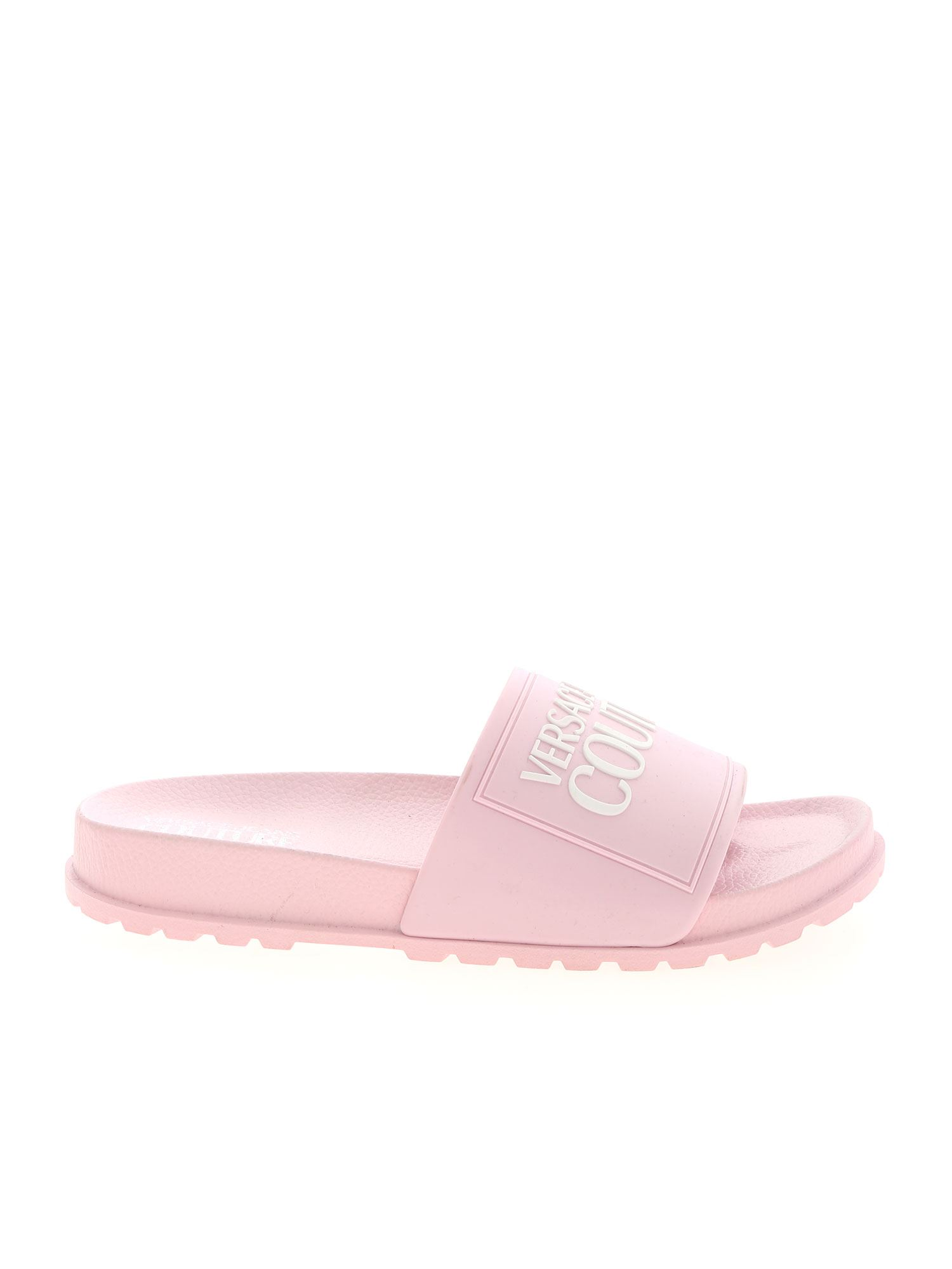 Versace Jeans Couture LOGO SLIPPERS IN PINK