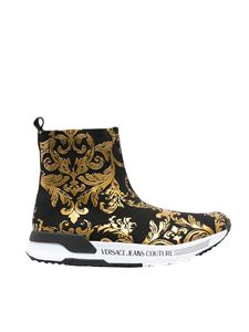 Versace Jeans Couture - Baroque logo sneakers in black