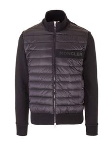 Moncler - Black cardigan with padded insert