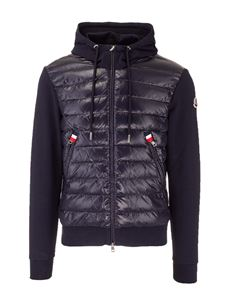 Moncler - Padded insert cardigan in blue