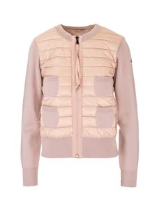 Moncler - Quilted front cardigan in pink