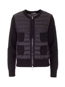 Moncler - Quilted front cardigan in black