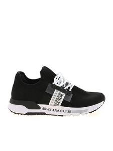 Versace Jeans Couture - Knit sneakers in black