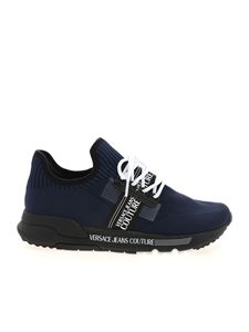 Versace Jeans Couture - Knit sneakers in blue