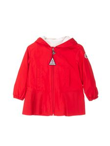 Moncler Jr - Pleated detail jacket in red
