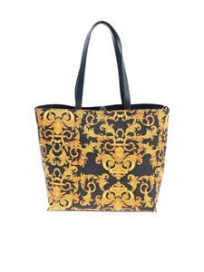 Versace Jeans Couture - Baroque logo reversible bag in black