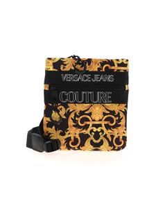 Versace Jeans Couture - Baroque print crossbody bag in black