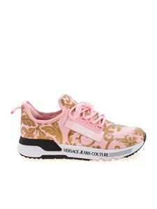 Versace Jeans Couture - Baroque logo sneakers in pink
