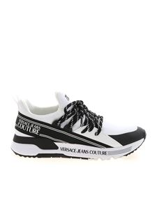 Versace Jeans Couture - Knit sneakers in white and gold color