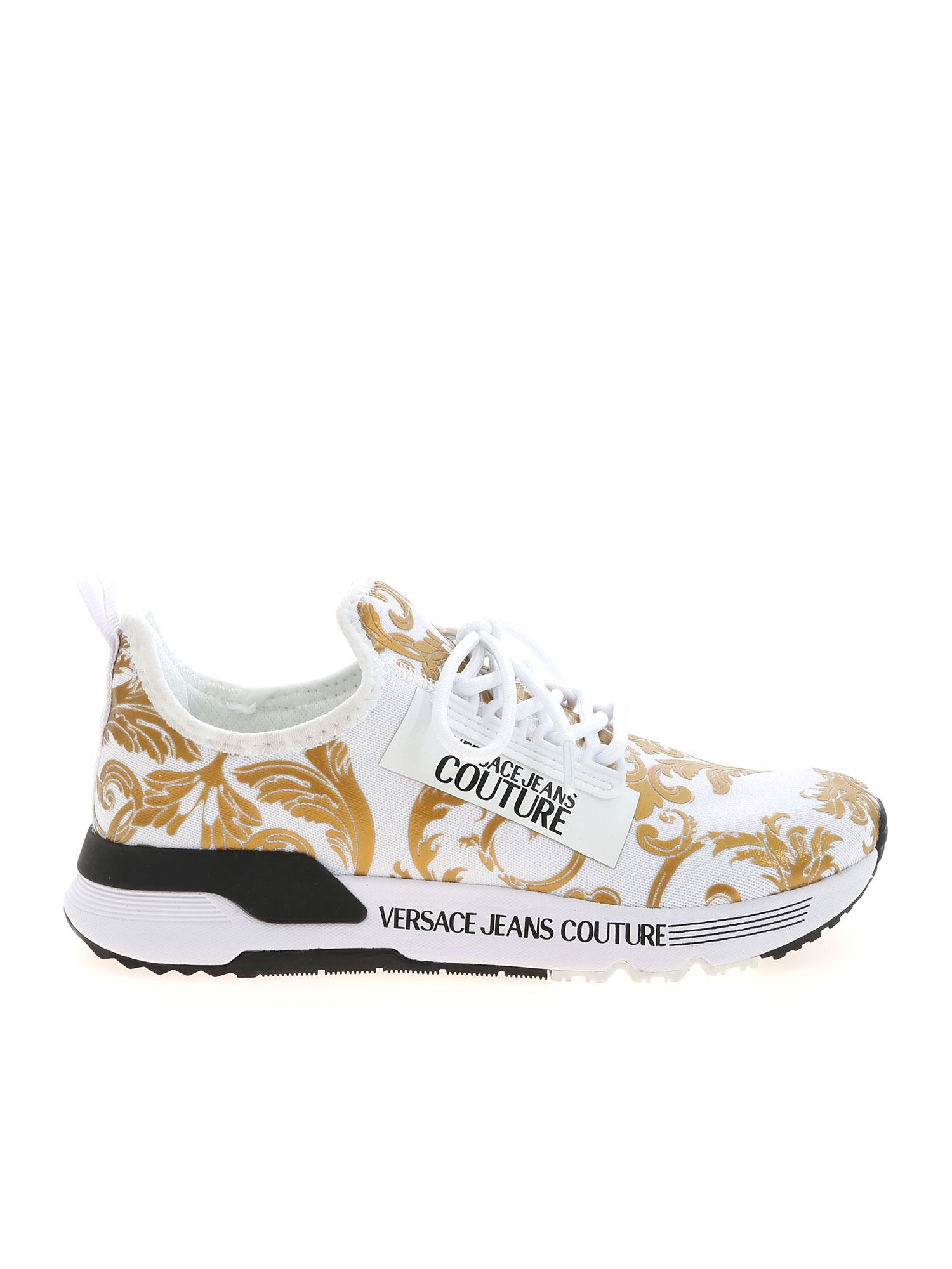 Versace Jeans Couture BAROQUE LOGO SNEAKERS IN WHITE