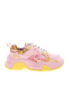 Versace Jeans Couture - Versailles print sneakers in pink