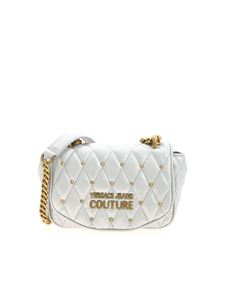 Versace Jeans Couture - Logo crossbody bag in silver color