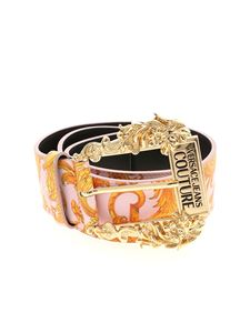 Versace Jeans Couture - Baroque print belt in pink