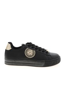 Versace Jeans Couture - V Emblem sneakers in black