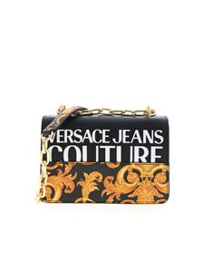 Versace Jeans Couture - Baroque logo crossbody bag in black