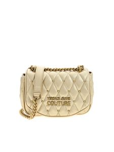 Versace Jeans Couture - Logo crossbody bag in gold color