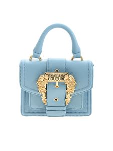 Versace Jeans Couture - Baroque buckle crossbody bag in light blue