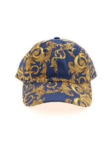 Versace Jeans Couture - Cappello stampa Baroque blu
