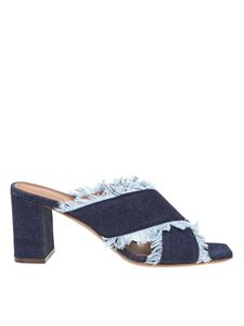 L'Autre Chose - Mules in denim blu