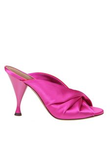 L'Autre Chose - Crossed mules in fuchsia and red