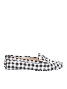 Tod's - Vichy print loafers in black and white