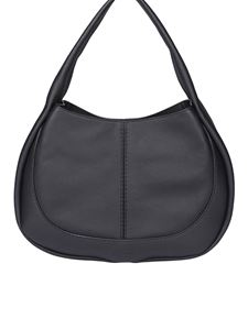 Tod's - Borsa Hobo media in pelle nera