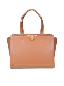 Tod's - Logo plaque large tote bag in brown