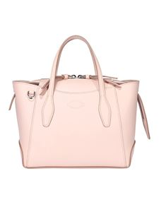 Tod's - Grainy leather mini bag in pink