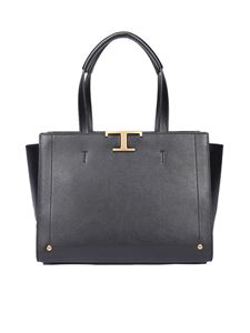 Tod's - Logo plaque large tote bag in black