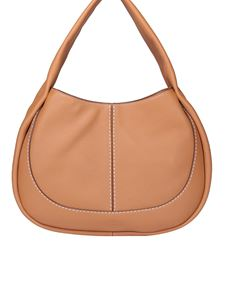Tod's - Borsa Hobo media in pelle marrone