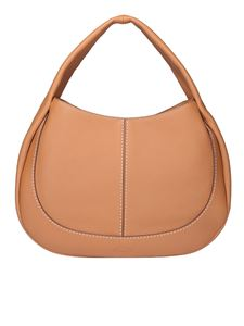Tod's - Borsa Hobo grande in pelle marrone