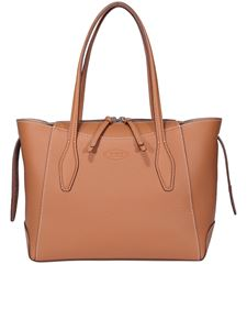 Tod's - Borsa a mano piccola in pelle color cammello