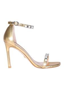 Stuart Weitzman - Amelina gold-tone sandals in gold color