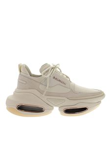 Balmain - B-Bold sneakers in ivory color