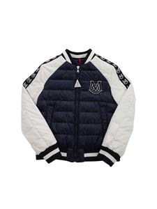 Moncler Jr - Giordias down jacket in blue and white