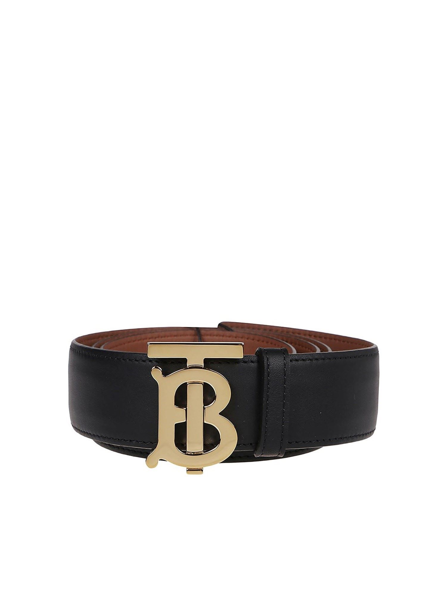 Burberry TB BUCKLE REVERSIBLE BELT IN BLACK