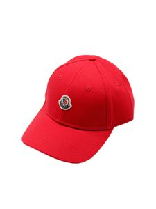 Moncler Jr - Logo baseball cap in red