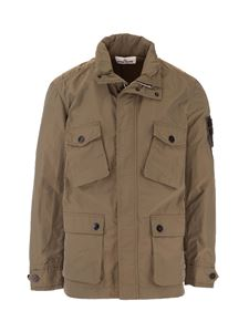 Stone Island - Micro Reps Field Jacket in Olive Green