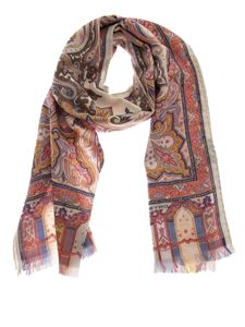 Etro - Patterned multicolor scarf