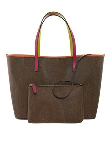 Etro - Paisley jacquard tote in brown