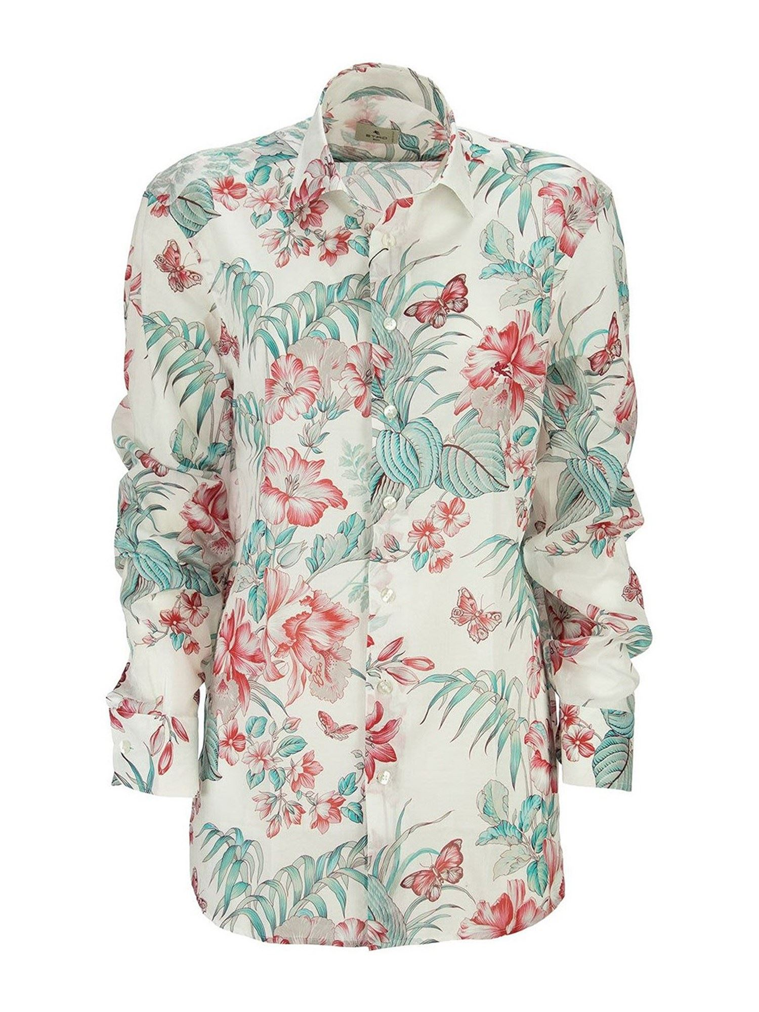 Etro FLORAL PRINTED COTTON MULTICOLOR SHIRT