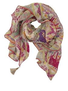 Etro - Tassels detailed multicolor scarf