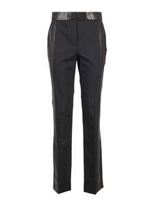 Helmut Lang - Wool and leather blend pants in black