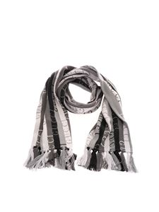 Gucci - Gucci stripe scarf in grey and black